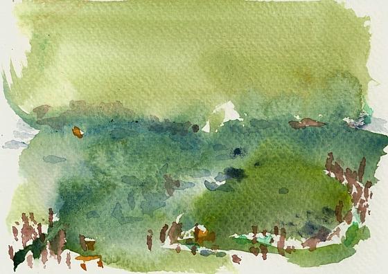 Menschengruppen in der  Landschaft