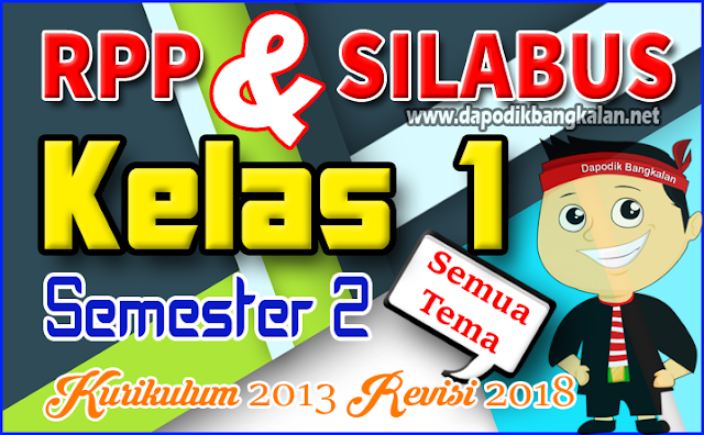 Rpp dan Silabus K13 Kelas 1 SD/MI Revisi 2018 Semester 2