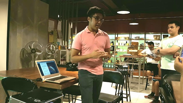 Hiraya Artisan Chocolate Founder Arvin Peralta giving us a talk.