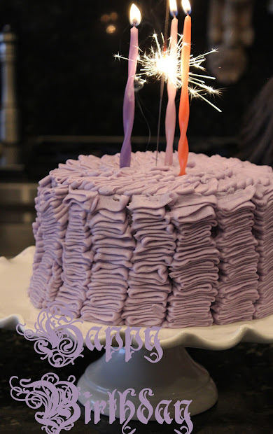 Ribbon Cake - Purple Chocolat Home