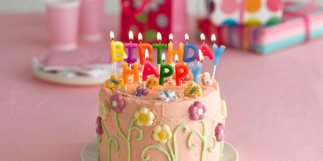 birthday cake with flowers