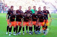 VALENCIA C. F. - Valencia, España - Temporada 2008-09 - Albelda, Iván Helguera, Alexis, Renan, Angulo y Moretti; Mata, Manuel Fernandes, Villa, Joaquín y Miguel - REAL VALLADOLID 0, VALENCIA C. F. 1 (Fernandes) - 05/10/2008 - Liga de 1ª División, jornada 6 - Valladolid, estadio Nuevo José Zorrilla - El Valencia se clasificó 6º en la Liga, con Unai Emery de entrenador