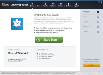 تحميل برنامج تحديث تعريفات الويندوز مجانا Download AVG Driver Updater Free