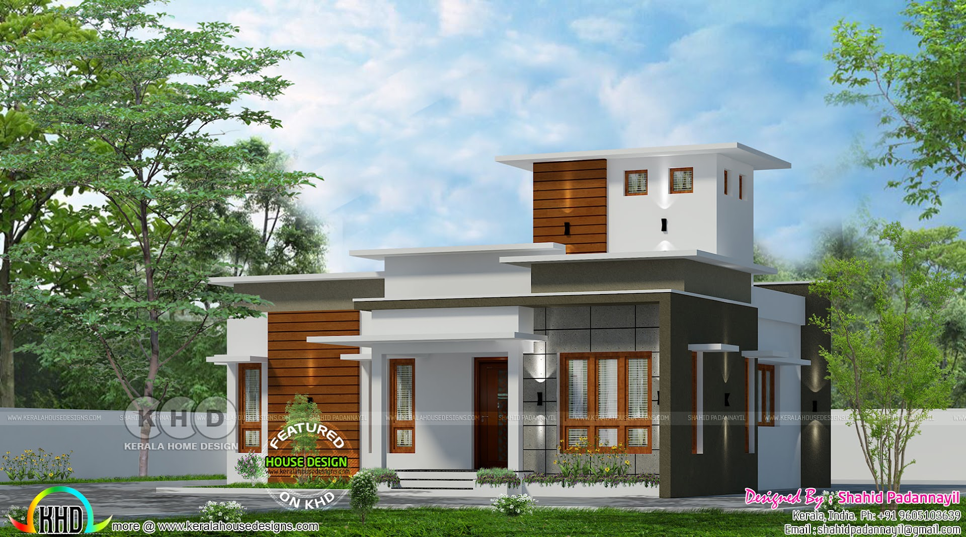 cute flat roof home - Get Low Cost Small House Design 1 Bedroom Gif