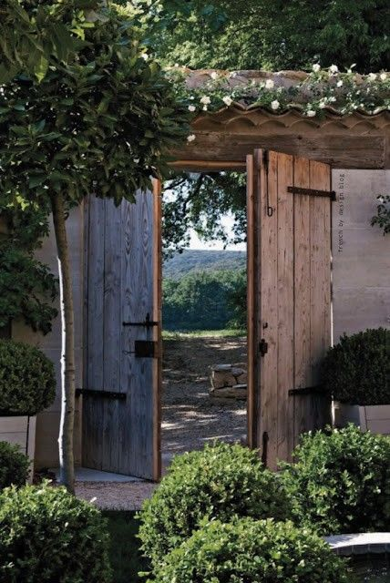 European farmhouse wood gates