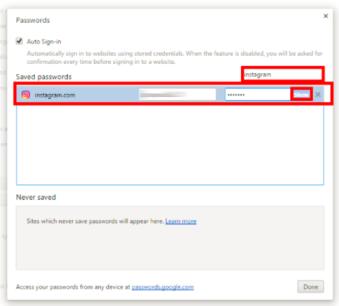 How to retrieve instagram password you will should enter your computer systems password to see the code your conserved instagram password will certainly be presented on the display ccuart Image collections