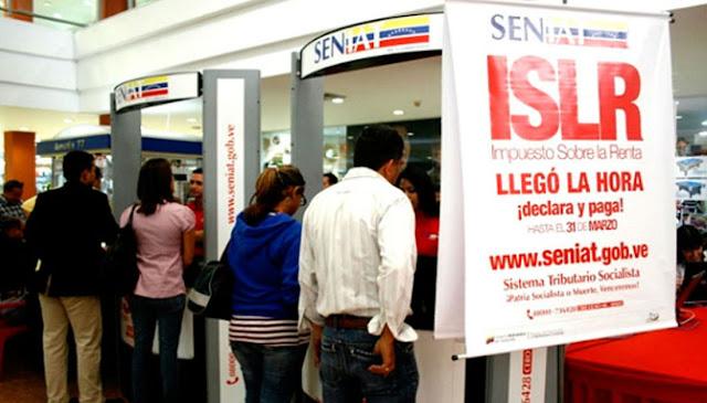 Seniat extendió pago del Impuesto Sobre La Renta hasta el 2 de abril