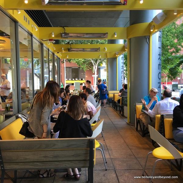 dining porch at Lemonade in San Francisco, California
