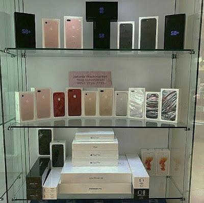di jual murah iphone 8 plus dan samsung s8 plus ori BNIB blackmarket