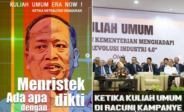 Menristekdikti Kampanye Jokowi Dibongkar Akun Opposite