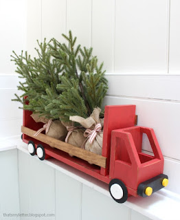diy truck shelf for holiday decor