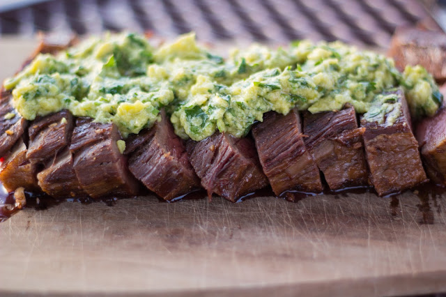 Dining with Danielle: Grilled Flank Steak with Avocado Chimichurri