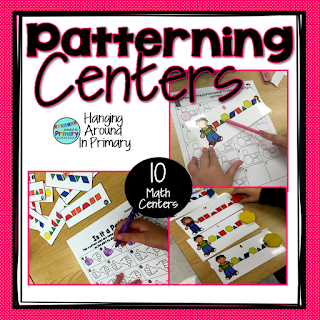 Centers to practice all the patterning skills including creating patterns, extending patterning, discriminating between patterns and non-patterns
