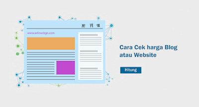 cara mengetahui harga blog atau website dengan mudah