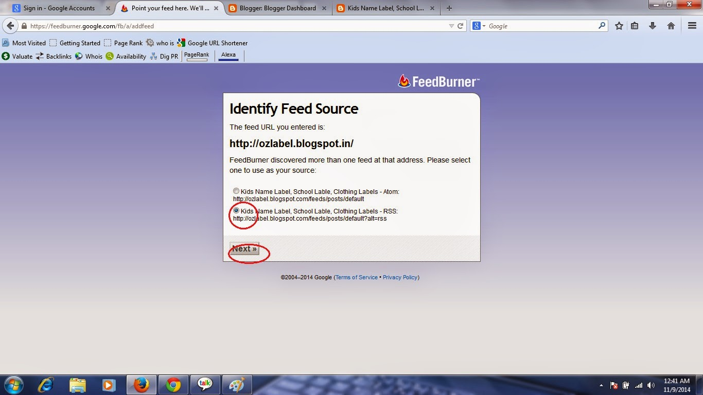 how to create rss feed burner and apply on blogger, how to create rss feed burner for blog
