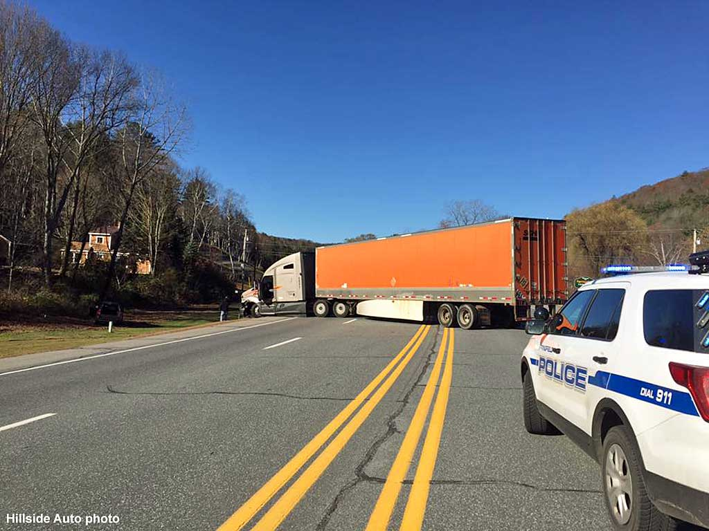 Springfield Vermont News: Tractor trailer accident Saturday