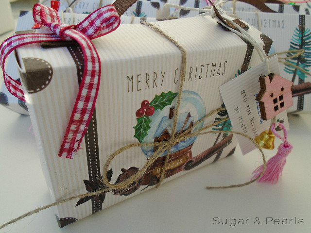 Christmas suitcase favor box