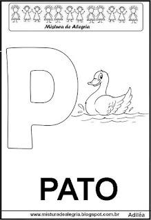 Alfabeto cartaz letra P