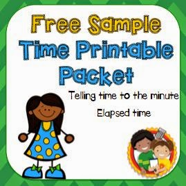 Free Sample! Practice telling time to the minute and elapsed time.