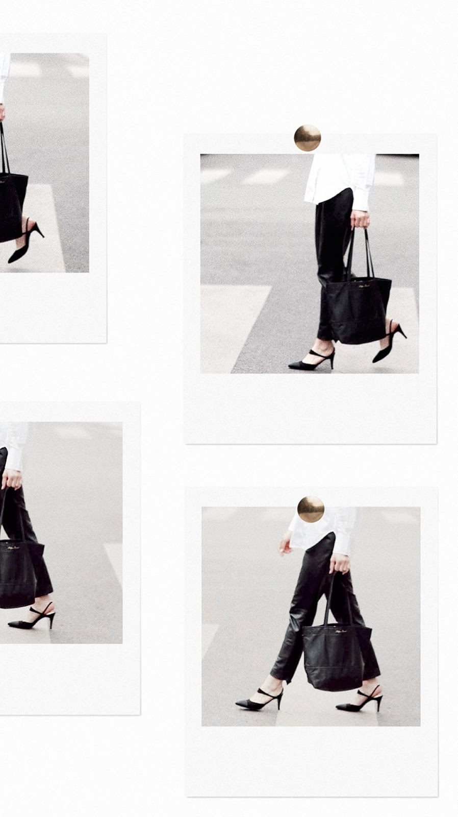 Belgrave Crescent: Introducing the In Your Eyes Leather Tote in Onyx