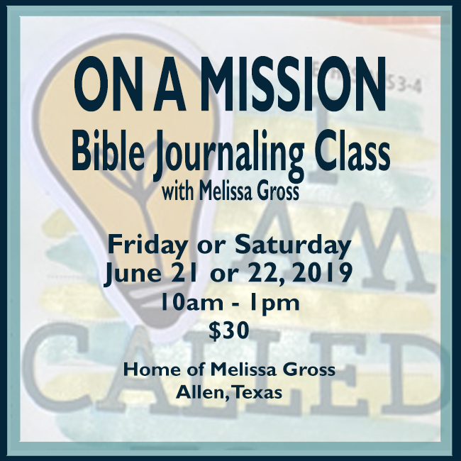 Daily Life - Bits & Pieces: Upcoming Class | On A Mission Bible
