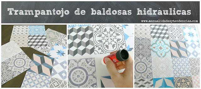 Manualidades y tendencias falso mosaico de baldosas for Comprar losetas de vinilo autoadhesivas