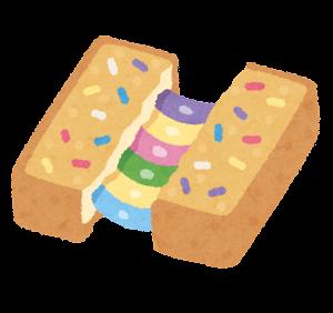 ユニコーンフードのイラスト(トースト)