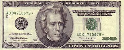 US $20 Series 1996 Andrew Jackson