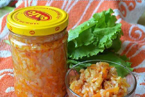 Заготовки на зиму салаты с рисом с фото