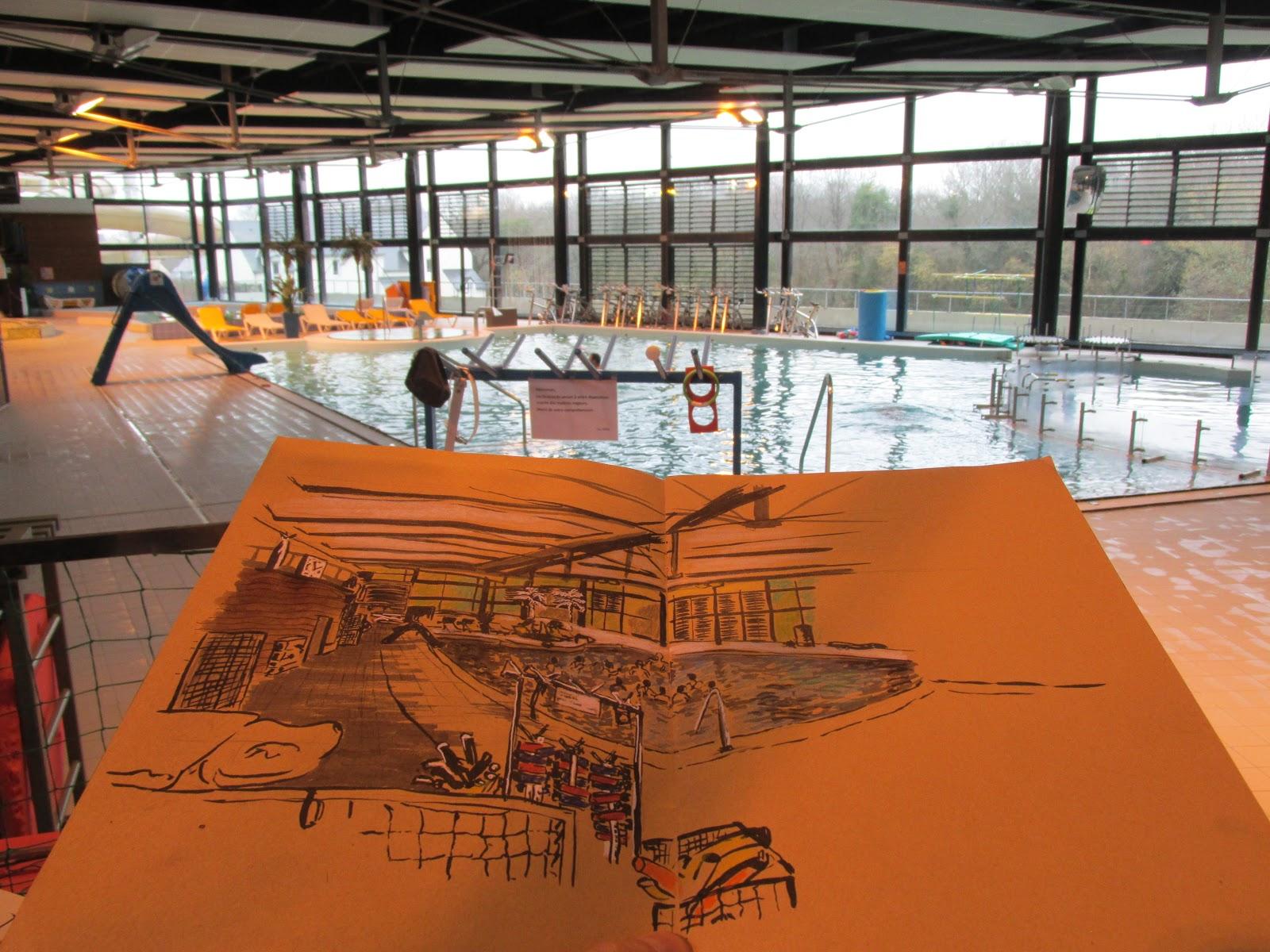 Les croqueurs quimperlois l 39 aquapaq piscine de for Piscine quimperle