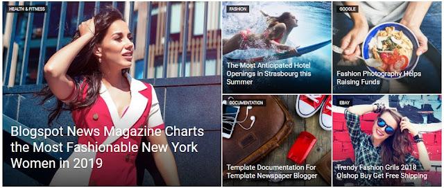 Cara Membuat Featured Image Otomatis Blogger Mirip Newspaper WordPress