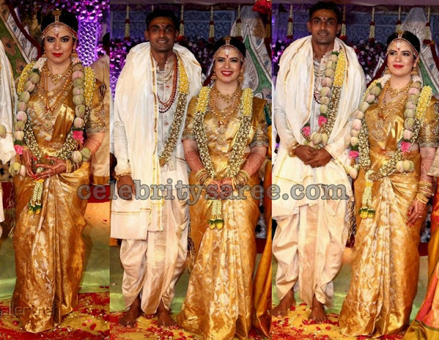 Rayanne in Gold Uppada Saree
