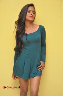 Telugu Actress Prasanthi Stills in Green Short Dress at Swachh Hyderabad Cricket Press Meet  0008.JPG