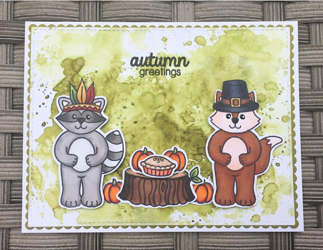 Sunny Studio Stamps: Sunny Saturday Woodsy Creatures Card Share by Kathy Straw