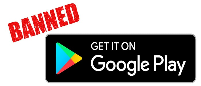 google play banned