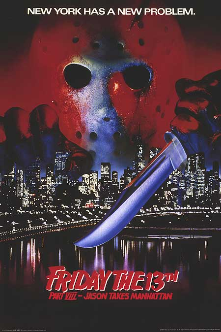 Jason Take Manhattan horror poster