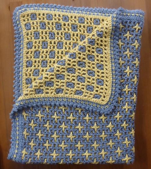 Baby Boy Tagge Afghan - Crochet Pattern