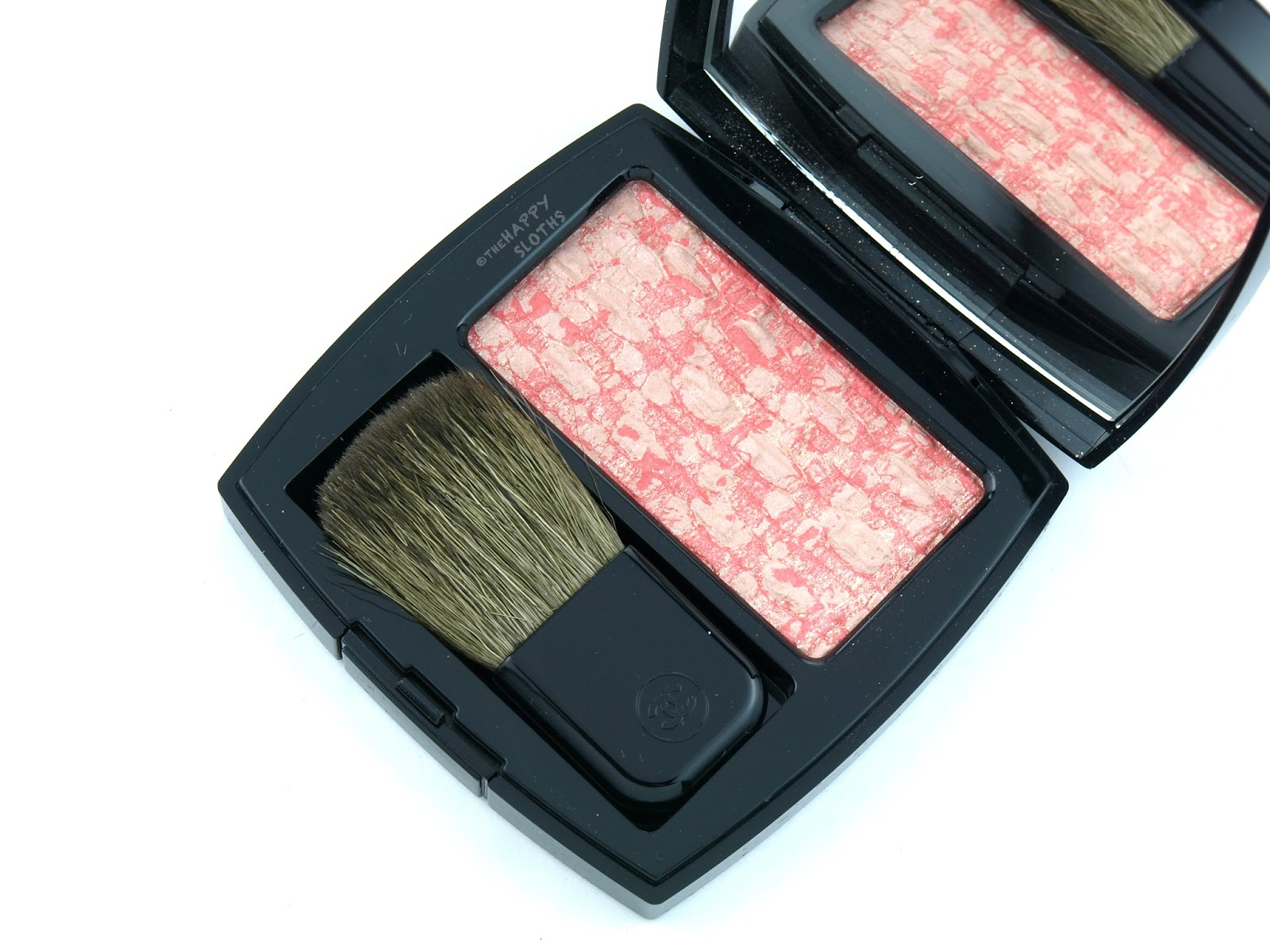 Chanel Spring 2017 Les Tissages de Chanel Blush Duo Tweed Effect 100 Tweed Coralline Swatches Review
