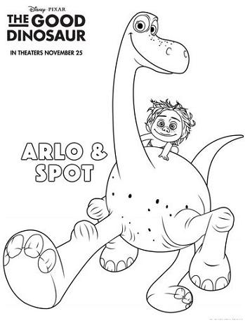 good dinosaur coloring