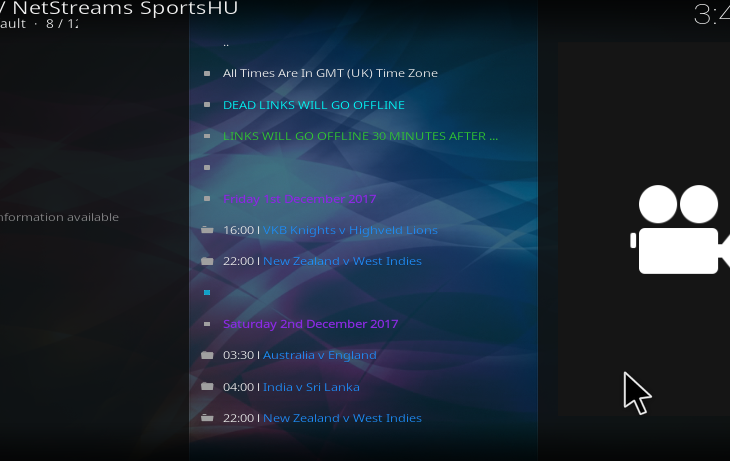 NetStreams SportsHUB Addon - Guide Install NetStreams