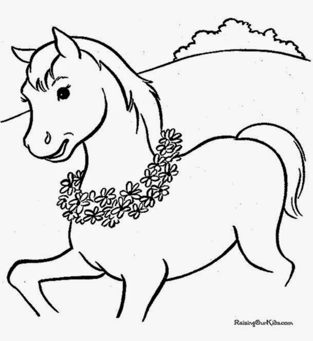 Free Coloring Pictures Pictures Of Horses To Color