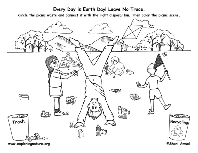 Early Play Templates Earth Day Activity Sheets