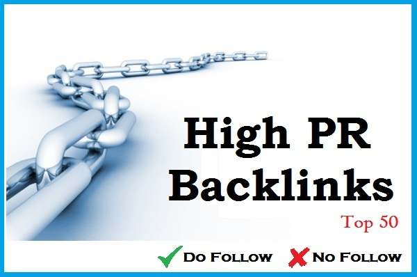 Top 50 High PR Backlinks