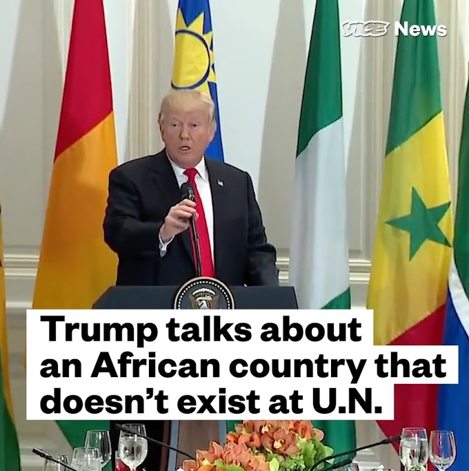 Video: Trumps calls Namibia 'Nambia' which got a lot attention on Twitter