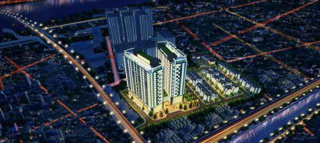 Phối cảnh dự án Green Pearl Minh Khai
