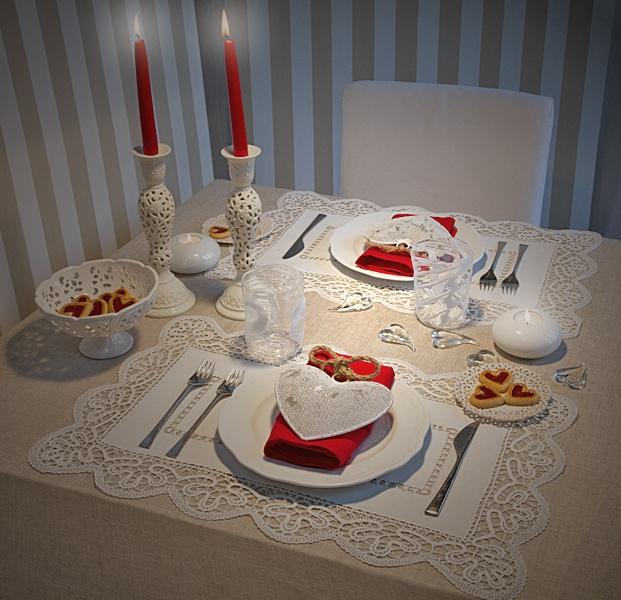 una mesa bien bonita por San Valentín