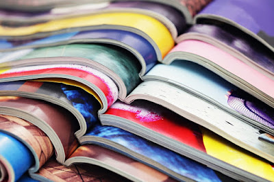 A picture of magazines.