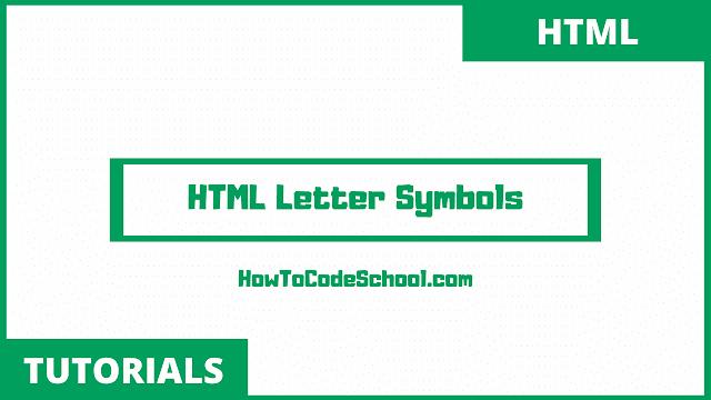 HTML Letter Symbols Code