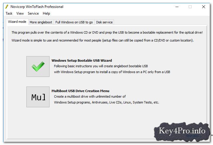 Hướng dẫn tạo USB cài đặt Windows với Novicorp WinToFlash Professional