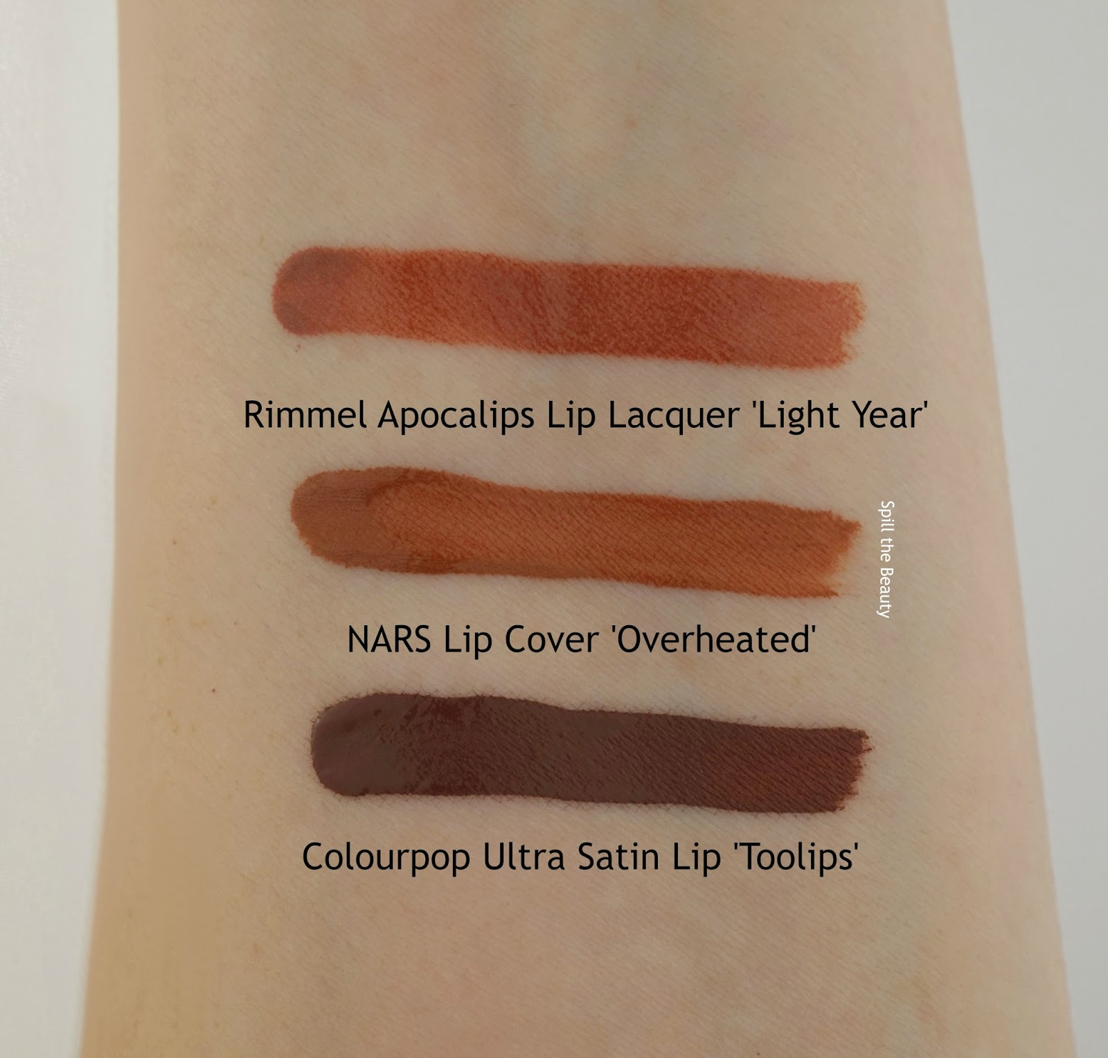 NARS Under Cover Summer 2016 Overheated Lip Cover review swatches comparison drugstore dupe colourpop rimmel